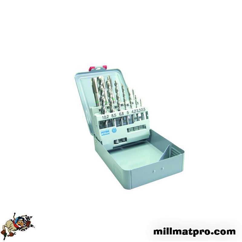 coffret de 7 tarauds machine forets pour mati res mm. Black Bedroom Furniture Sets. Home Design Ideas