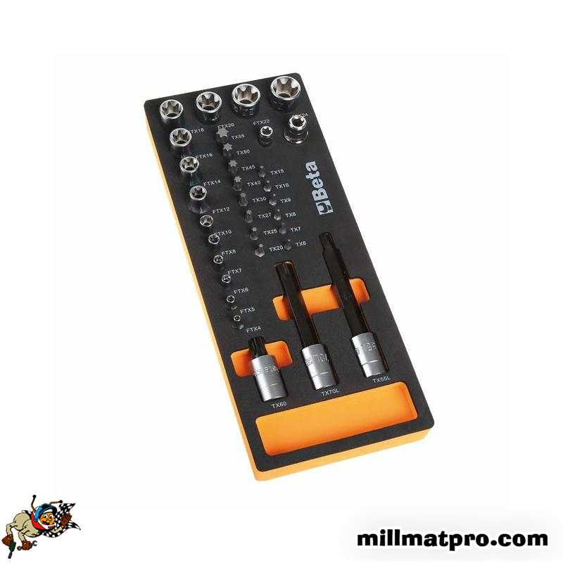 module mousse douilles torx m le et femelle beta bet 024500112. Black Bedroom Furniture Sets. Home Design Ideas