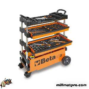 Servante chariot d'atelier transportable c27s orange