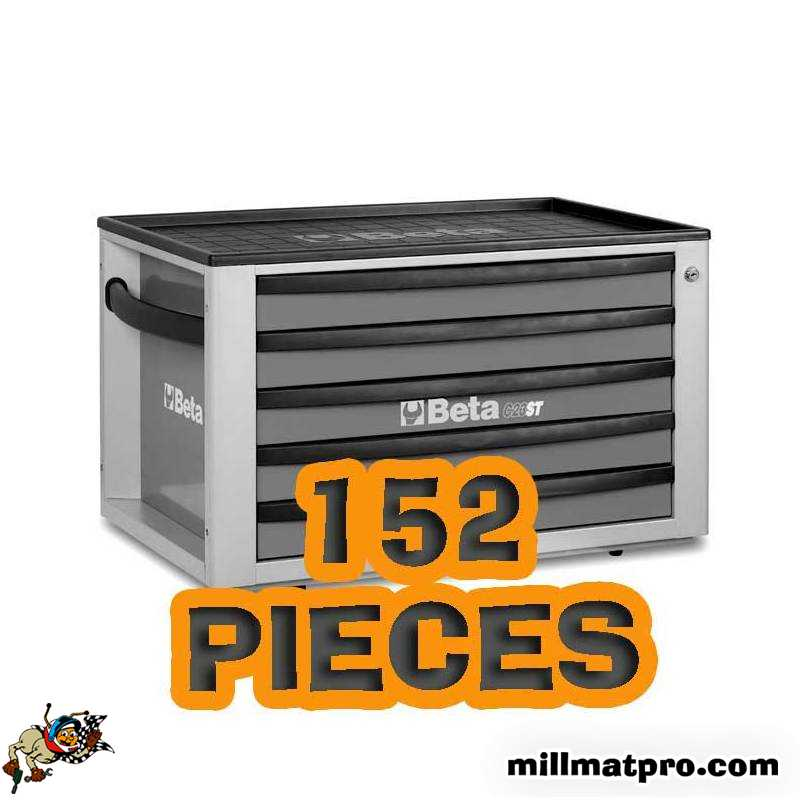 Coffre A Outils 5 Tiroirs 152 Pieces Special Rentree Beta Bet C23st152p