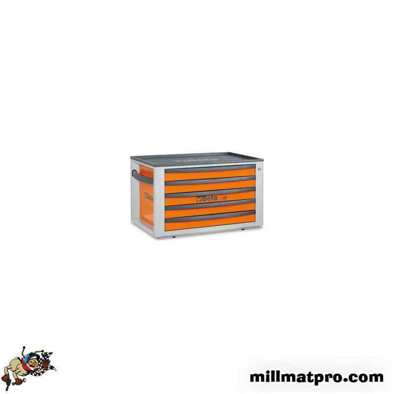Coffre A Outils 5 Tiroirs Beta Orange Beta Bet C23sto