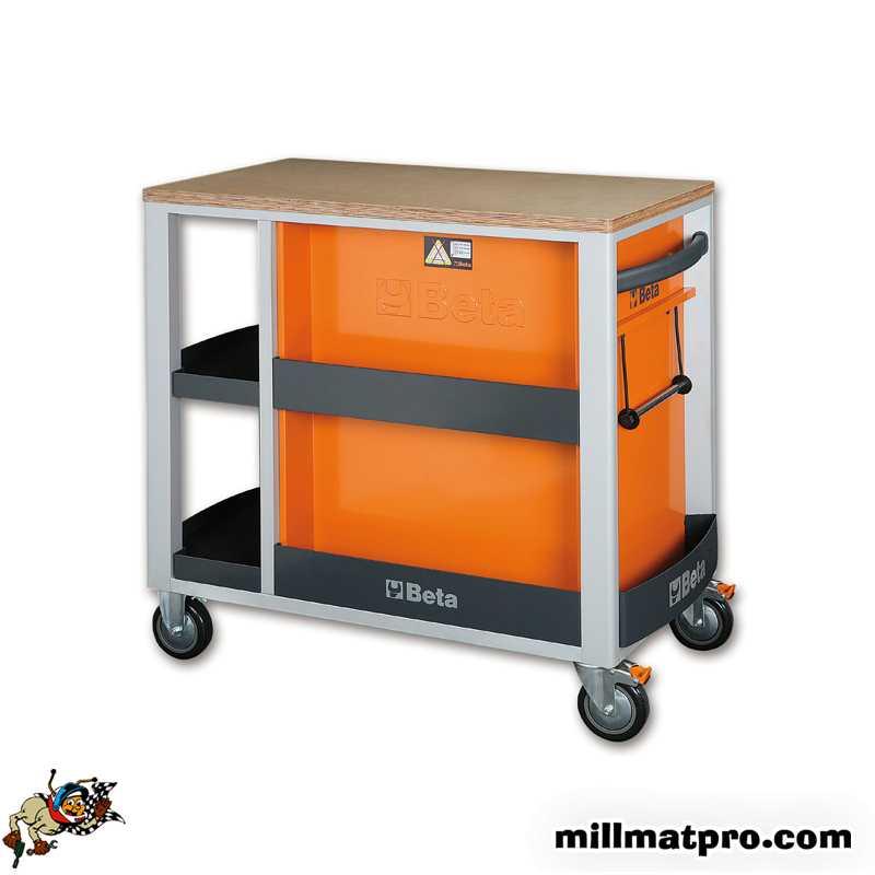 servante d 39 atelier beta etabli de travail mobile 7 tiroirs beta 800kg orange beta bet c24slo. Black Bedroom Furniture Sets. Home Design Ideas