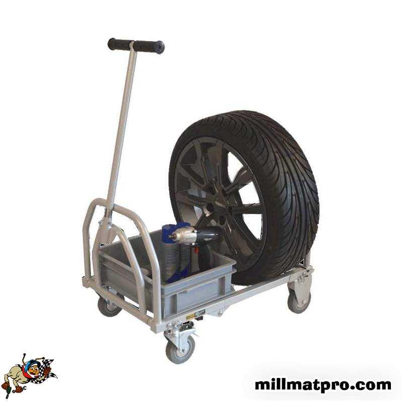 chariot transport roues pliable longueur 650mm bg racing bgr107p. Black Bedroom Furniture Sets. Home Design Ideas