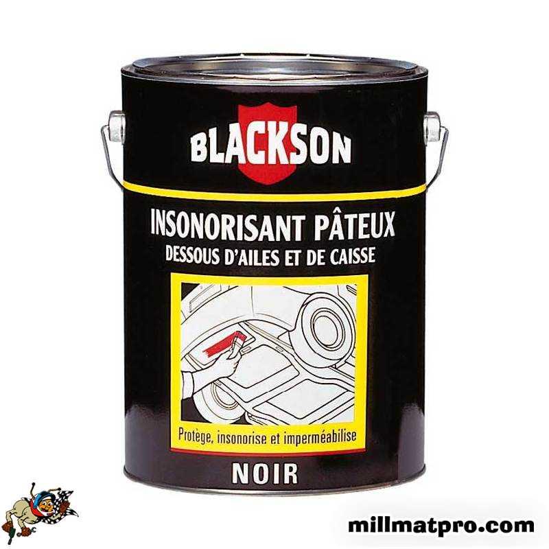 pot 1kg insonorisant dessous de caisse dessous d 39 aile noir blackson sod 11765. Black Bedroom Furniture Sets. Home Design Ideas