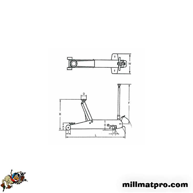 cric poids lourds long 5 tonnes ks tools. Black Bedroom Furniture Sets. Home Design Ideas