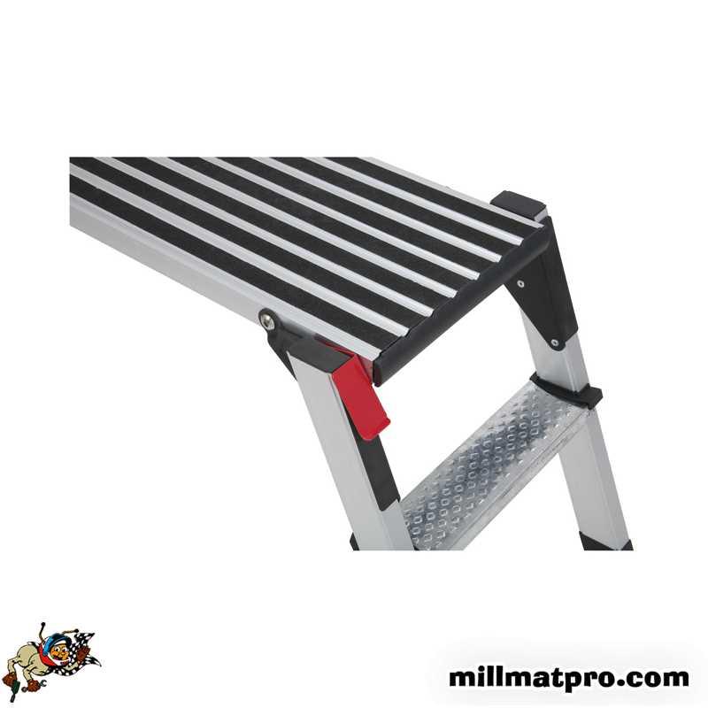 marche pied pliant en aluminium ks tools. Black Bedroom Furniture Sets. Home Design Ideas
