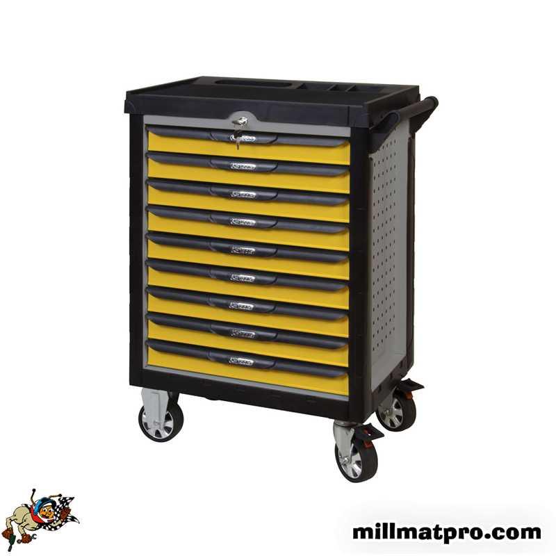 servante atelier compl te 276 outils ks tools 9t jaune ks. Black Bedroom Furniture Sets. Home Design Ideas