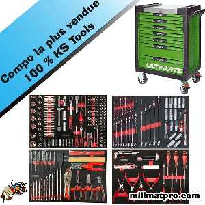 Servante d'atelier ultimate + compo 349 outils ks tools