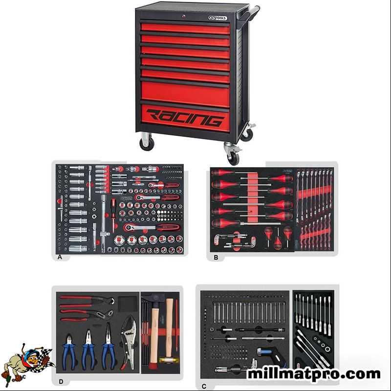 Servante d 39 atelier compl te 270 outils ks tools 7t ks - Servante d atelier complete ...