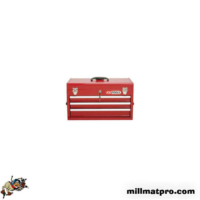 Coffre A Outils 3 Tiroirs Avec Compartiment Superieur Ks Tools 891 0003