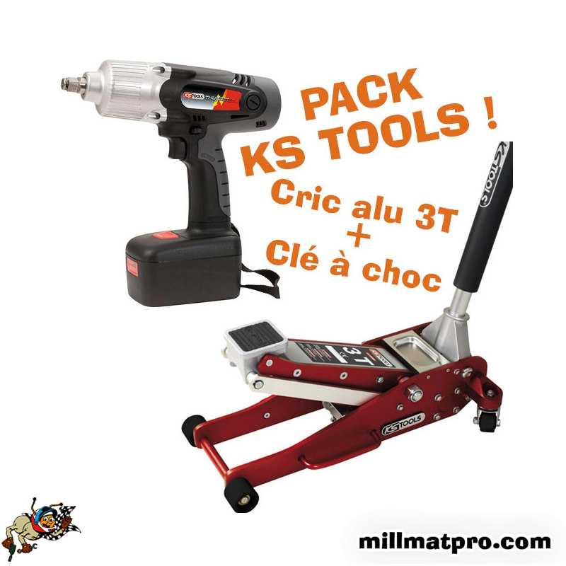 pack cl choc sur batterie cric alu 3t ks tools ks tools ks pack1. Black Bedroom Furniture Sets. Home Design Ideas