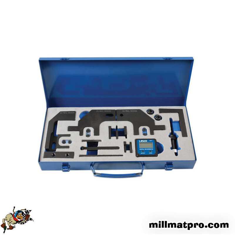 kit d 39 outils pour calage chaine de distribution psa bmw 1 4 1 6 essence laser las 6814. Black Bedroom Furniture Sets. Home Design Ideas